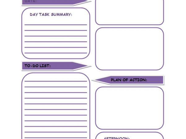 2020 Printable Daily Planner Template