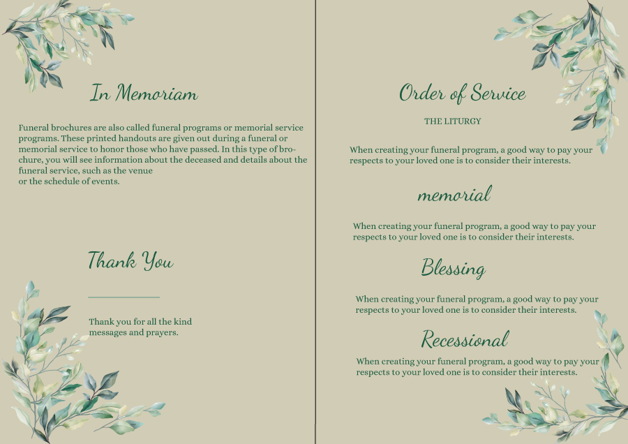 Free Editable Funeral Template 02